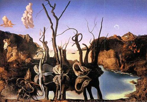 dali-Cisnes reflejados en elefantes