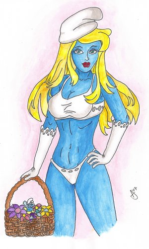 Miss_Smurfette_by_dendron02